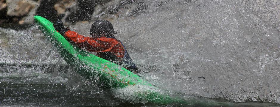 And after...bellyak rock slide into river. Wilson Creek, photo Effort Inc.