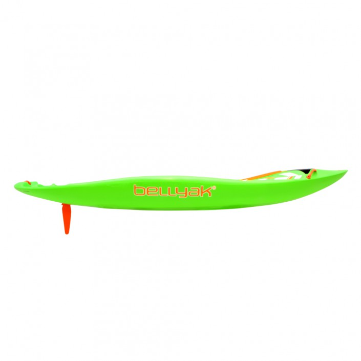 Frequency - lime boat - side view