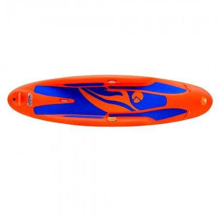 play 35 - orange boat - top view