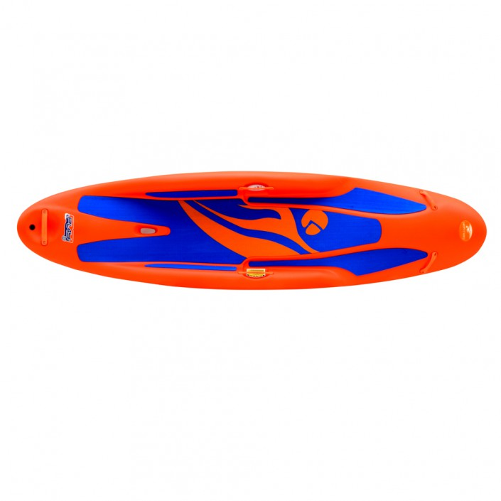 play 35 - orange boat - top view
