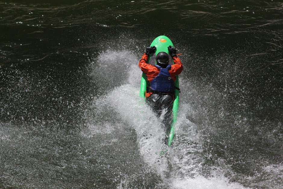 Getting big air on Wilson Creek! Photo: Effort, Inc.