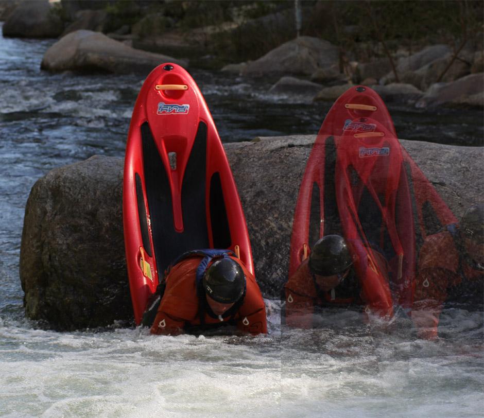 Bow Splat! Paddler Adam Masters on Wilson Creek. Photo: Effort, Inc.