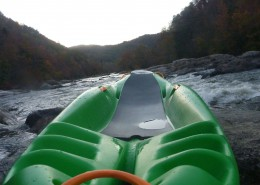 first-person perspective of Bellyak on river 2
