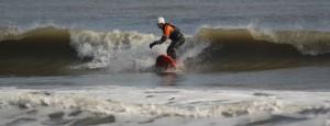 Bellyak surfing 1