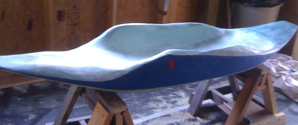 New bellyak, version 1 Prone Squirt Boat