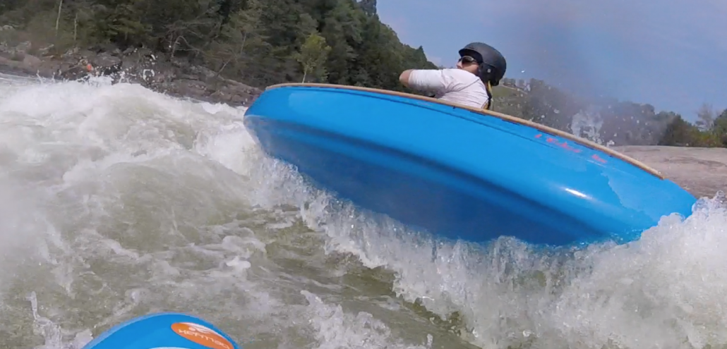 View from the bellyak of Eli Helbert running the second half of the Insignificant rapid
