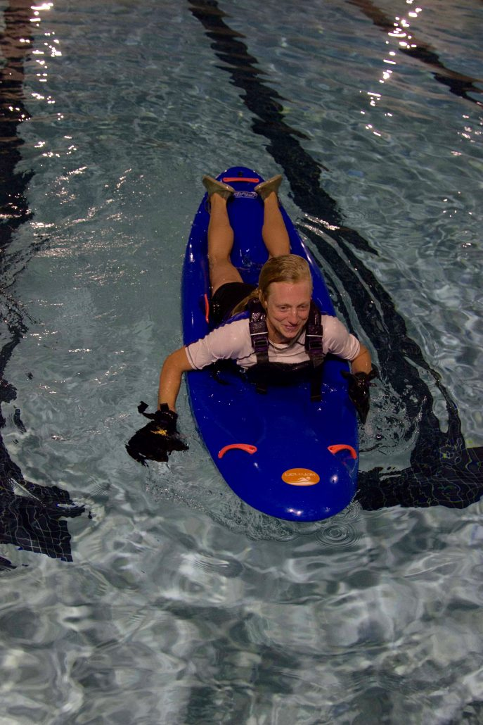 Swing legs back on and your bellyak roll is complete!