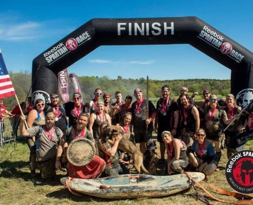 The team at the finish