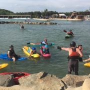 Bellyak lesson at the National Whitewater Center