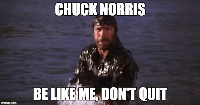 Chuck Norris don't quit