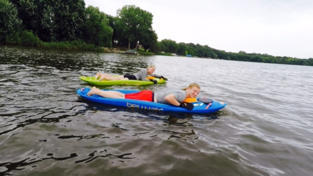Working out on the bellyak