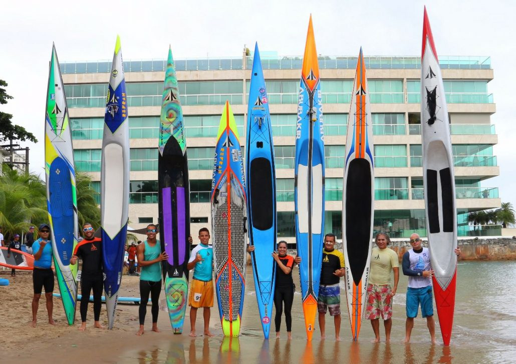 Some people and their prone paddleboards