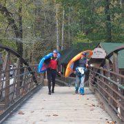Chris Barlow and Adam Masters on the way the Nantahala Falls