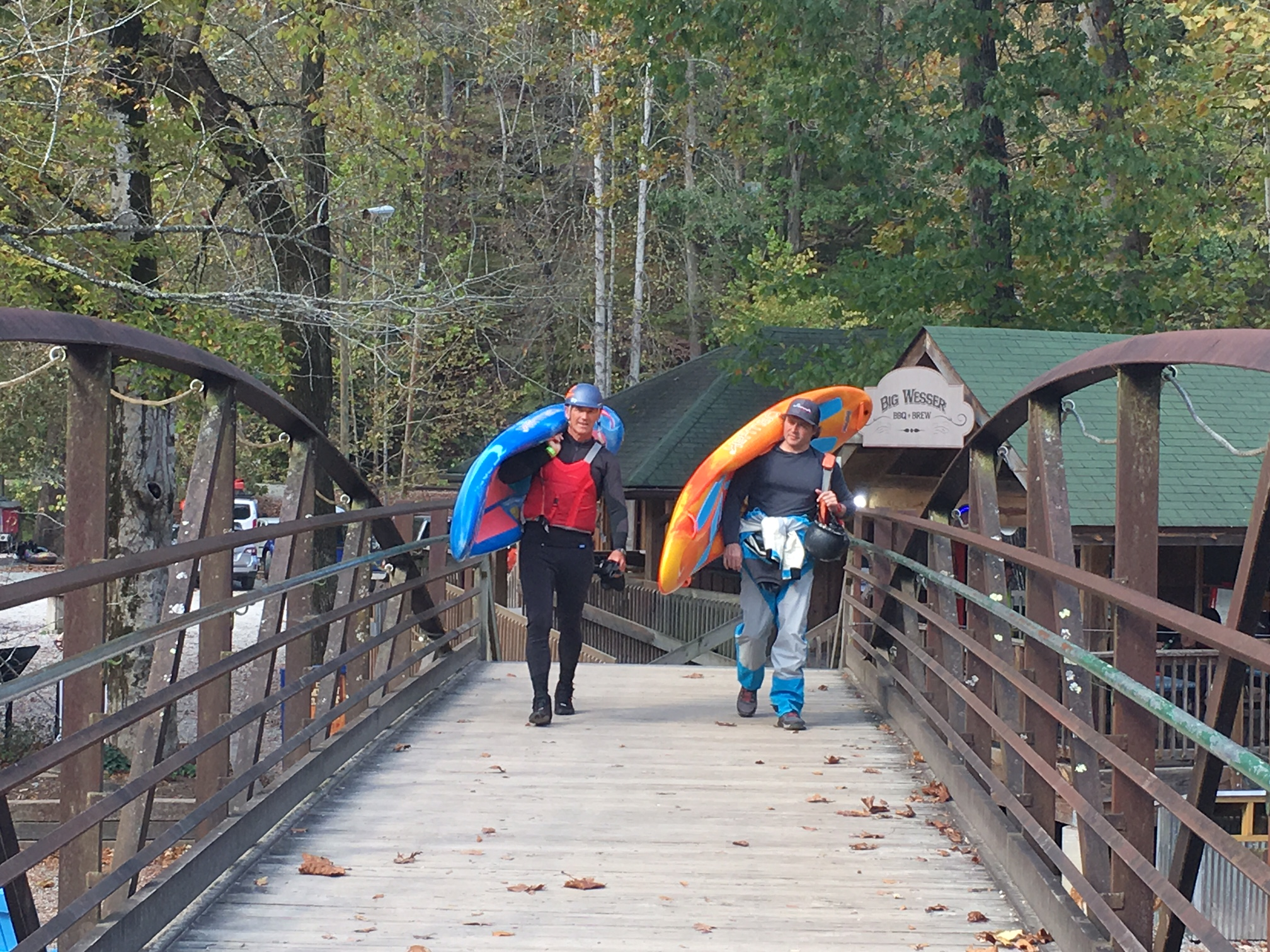 Chris Barlow and Adam Masters on the way the Nantahala Falls
