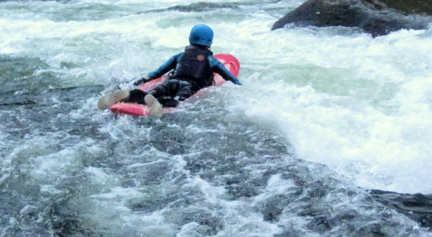 Bellyaking on the Nantahala River