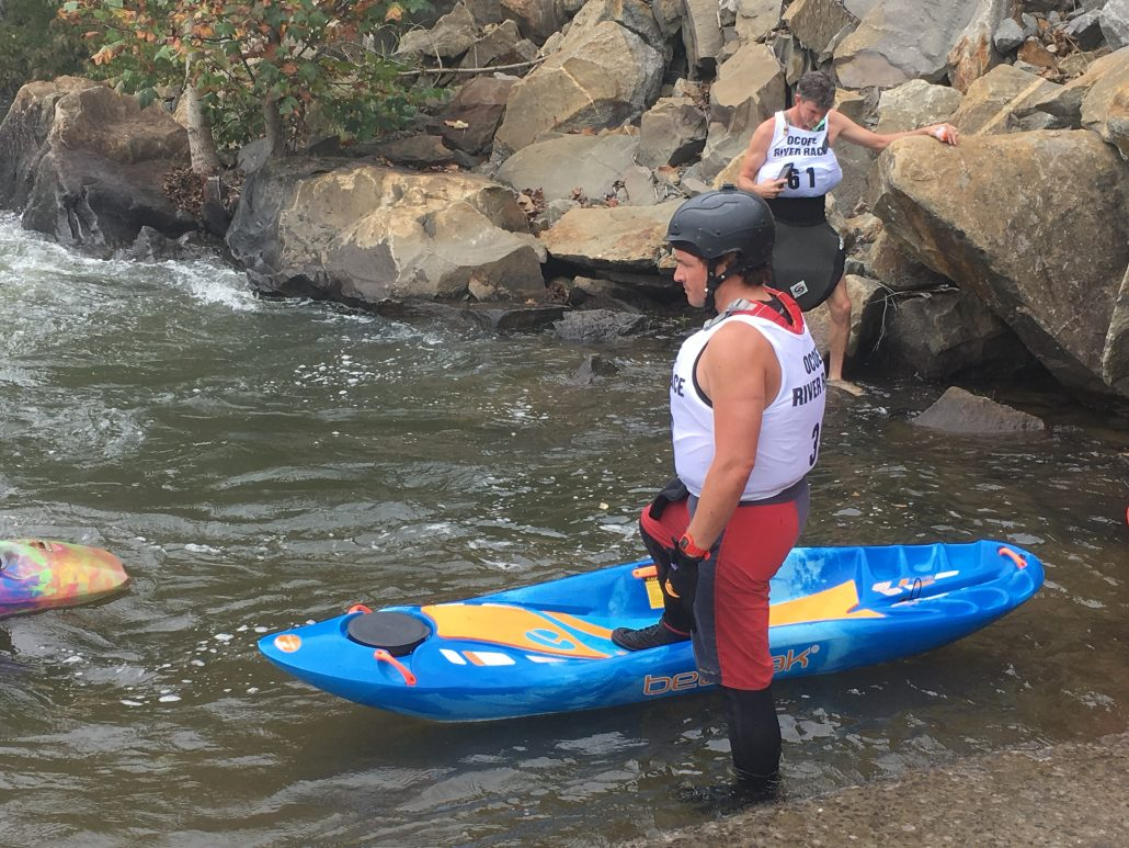 Adam Masters getting ready to bellyak in the 2017 Ocoee Race