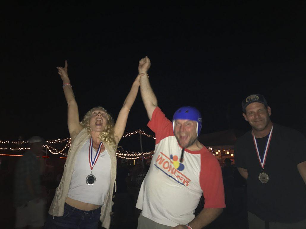 Jamie MacLeod celebrating the Ocoee race
