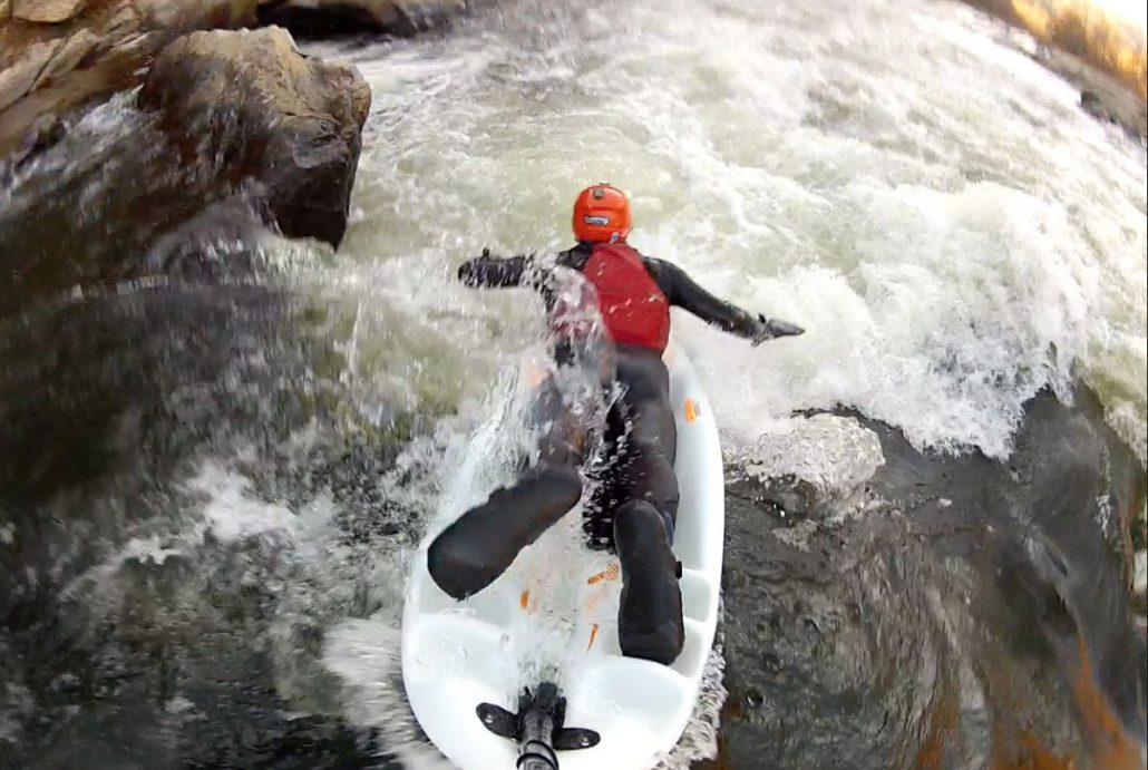 Bellyaking on the French Broad