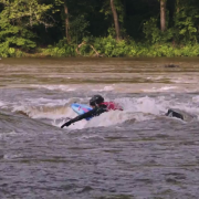 Prone River Surfing