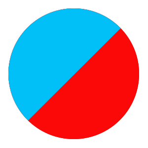 blue/red