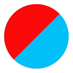red/blue